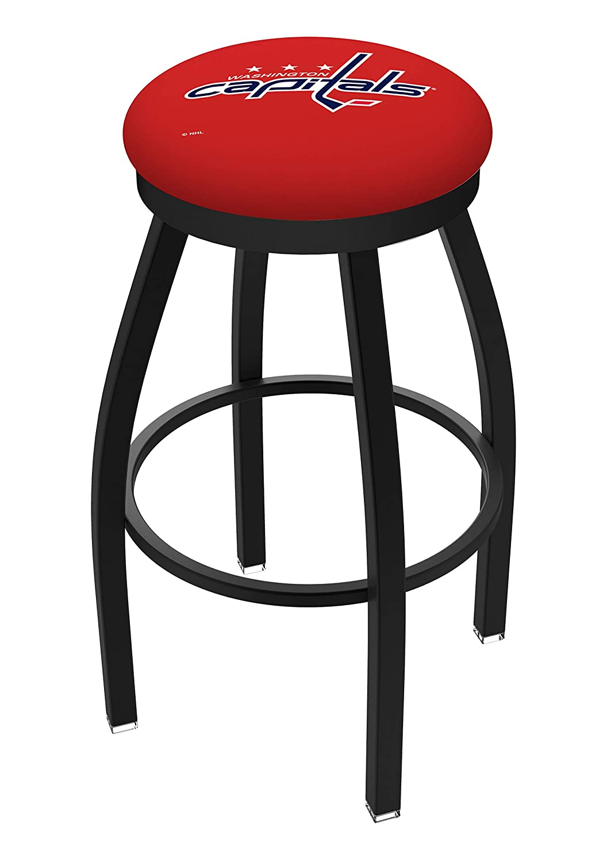 30 L8B2B Black Wrinkle Washington Capitals Swivel Bar Stool with Accent Ring by Holland Bar Stool Company