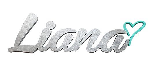 Nombre del niño o niña de puerta placas con corazón,Liana, regalos ...