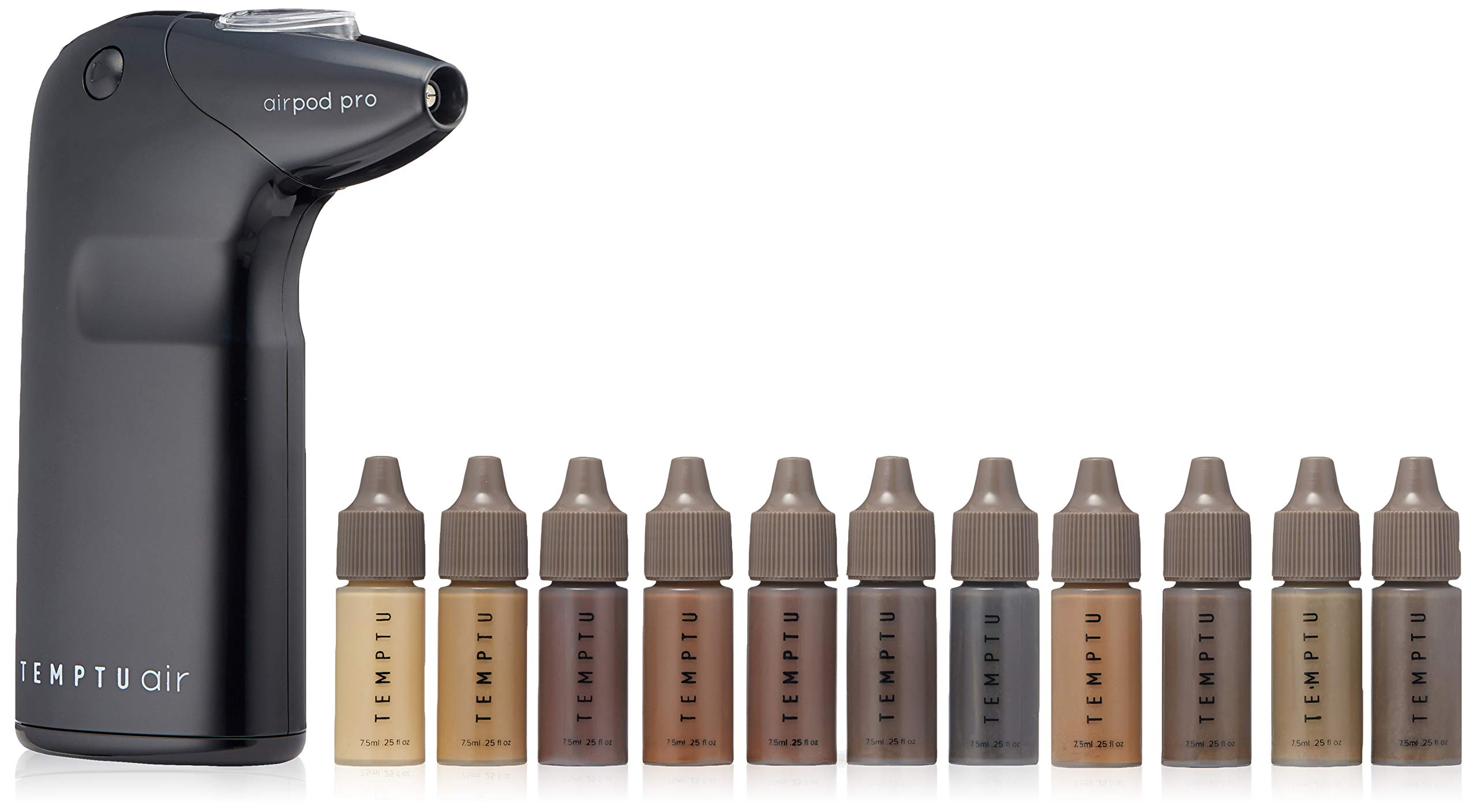 Temptu Air Barber Pro Deluxe Kit, Uburn, Light Brown, Medium Brown, Dark Brown, Brown/Black, Platinum Blonde, Golden Blonde by Temptu