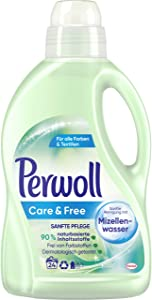 Perwoll Care and Free - Liquid Detergent with Micellar Water Suitable for Sensitive Skin (24 Wash Loads)