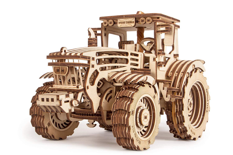 Amazon com: Shu li Wood Trick 3D Mechanical Model Tractor