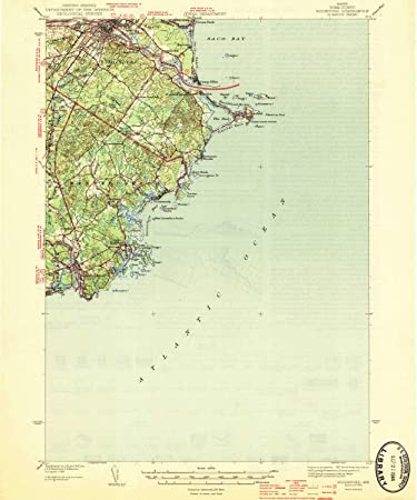 Amazon Com Yellowmaps Biddeford Me Topo Map 1 62500 Scale 15 X 15 Minute Historical 1944 19 8 X 16 5 In Paper Sports Outdoors