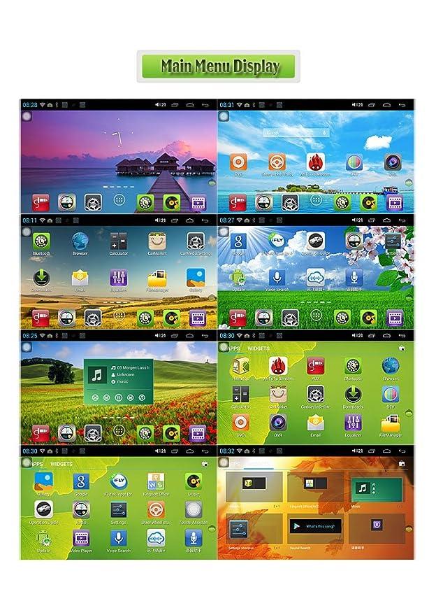 erisin es8990 a 1 DIN 7 pulgadas Android 4.1.1 coche DVD ...
