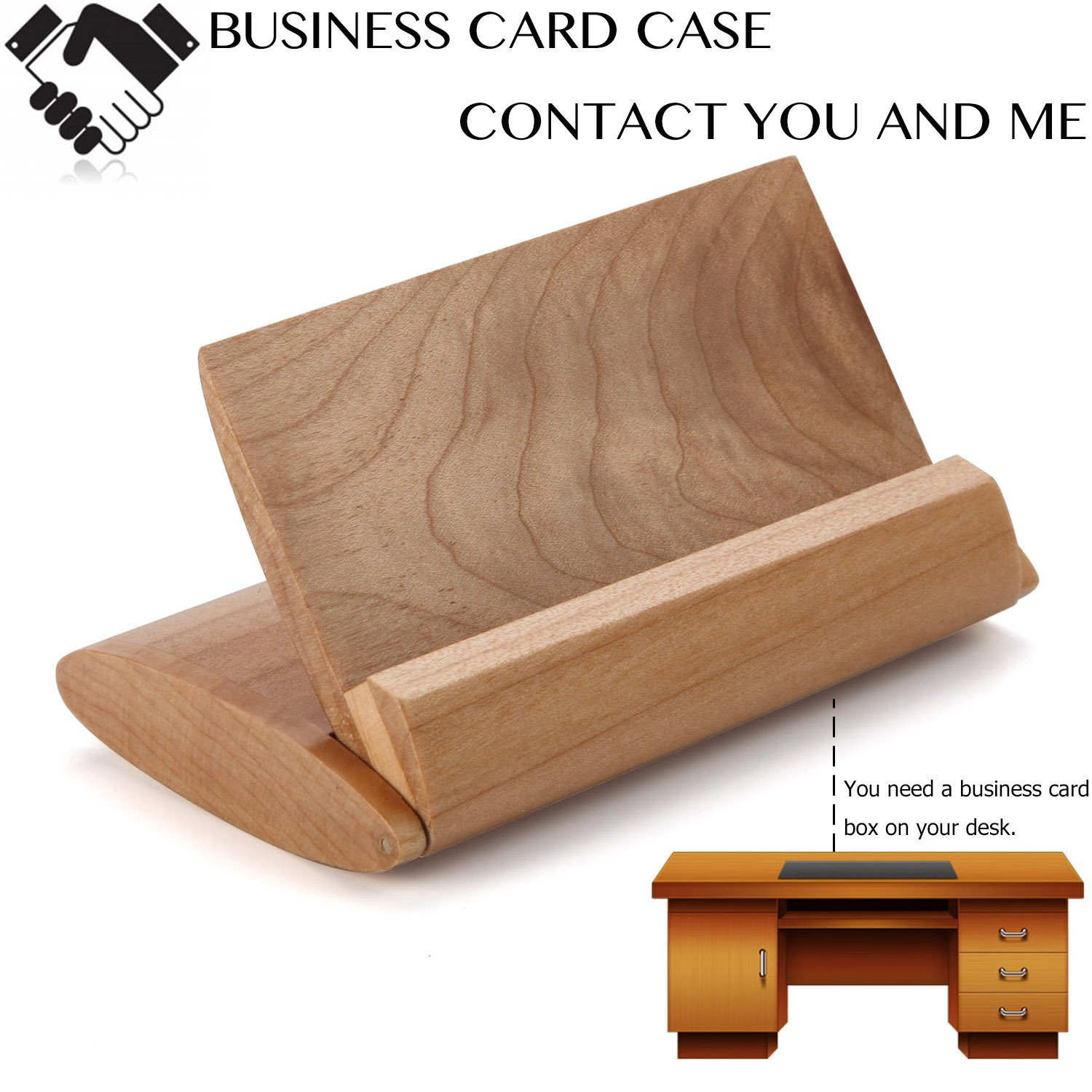 Amazon wood business card case holder vimvip handcrafted amazon wood business card case holder vimvip handcrafted foldable handy multifunctional business name card wooden case box and display stand brown colourmoves