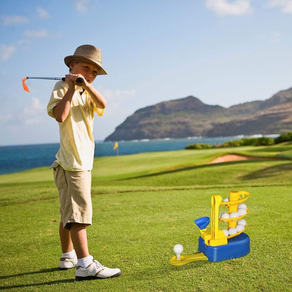 Outdoor Toys for Toddlers Age 3-5, Kids Golf Clubs Set 3-8 Golf Toys for Toddlers Boys Kids Christmas Xmas Gifts for 3-8 Year Old Boys Stocking Stuffers Fillers for Boys Blue DMGF1 by LET'S GO!