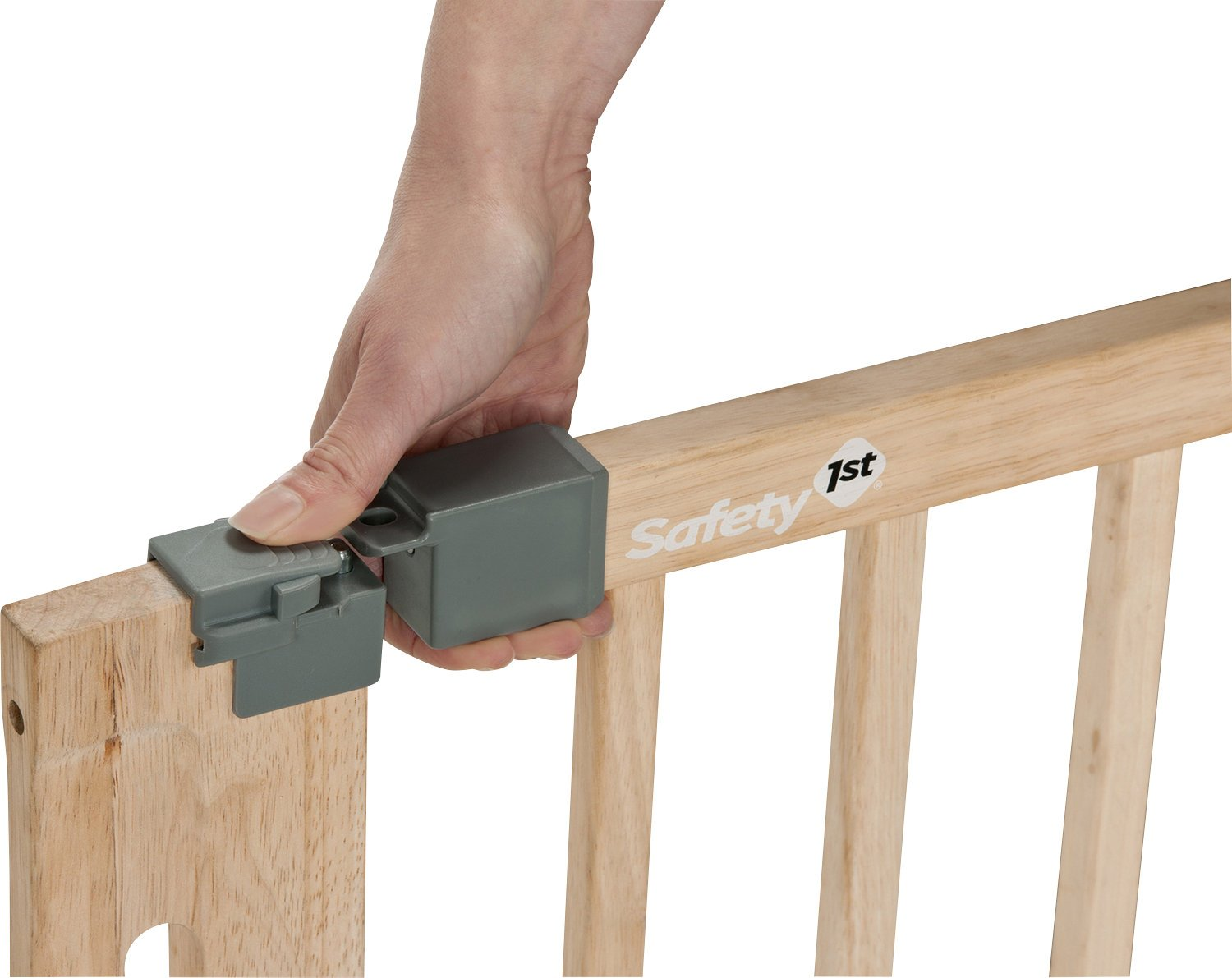 Pressure Fit Natural Safety 1st Easy Close Safety Gate Made from Wood