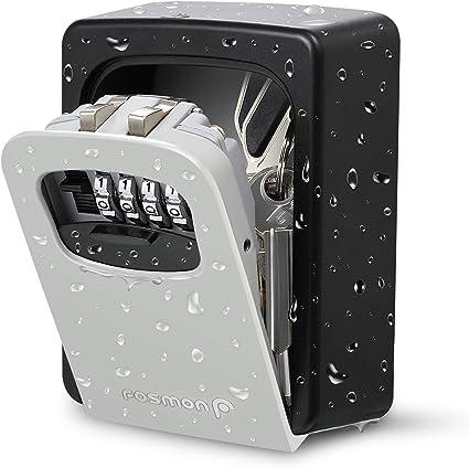 Fosmon - Caja de seguridad para llaves de 4 dígitos, para montar ...