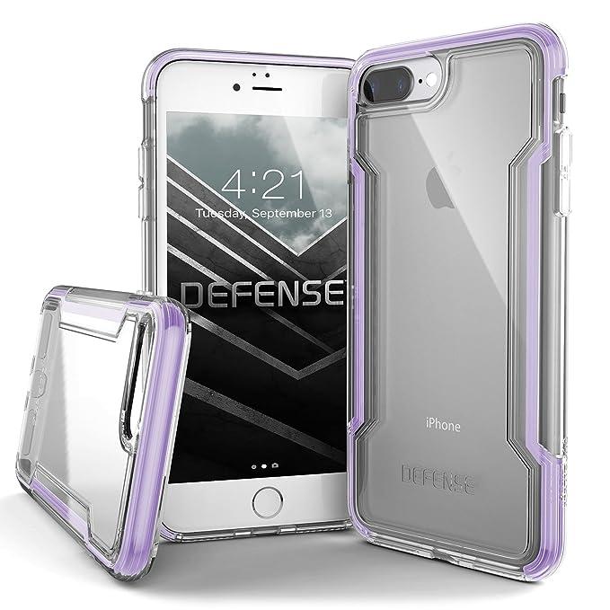 the best attitude d966c f4495 iPhone 8 Plus Case, X-Doria Defense Clear Series - Military Grade Drop  Protection, Clear Protective Case for iPhone 8 Plus, [Purple]