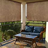 Radiance 2310014 Exterior Solar Shade with 85% UV Ray Protection, 6-Foot Wide by 6-Foot Long, Cocoa