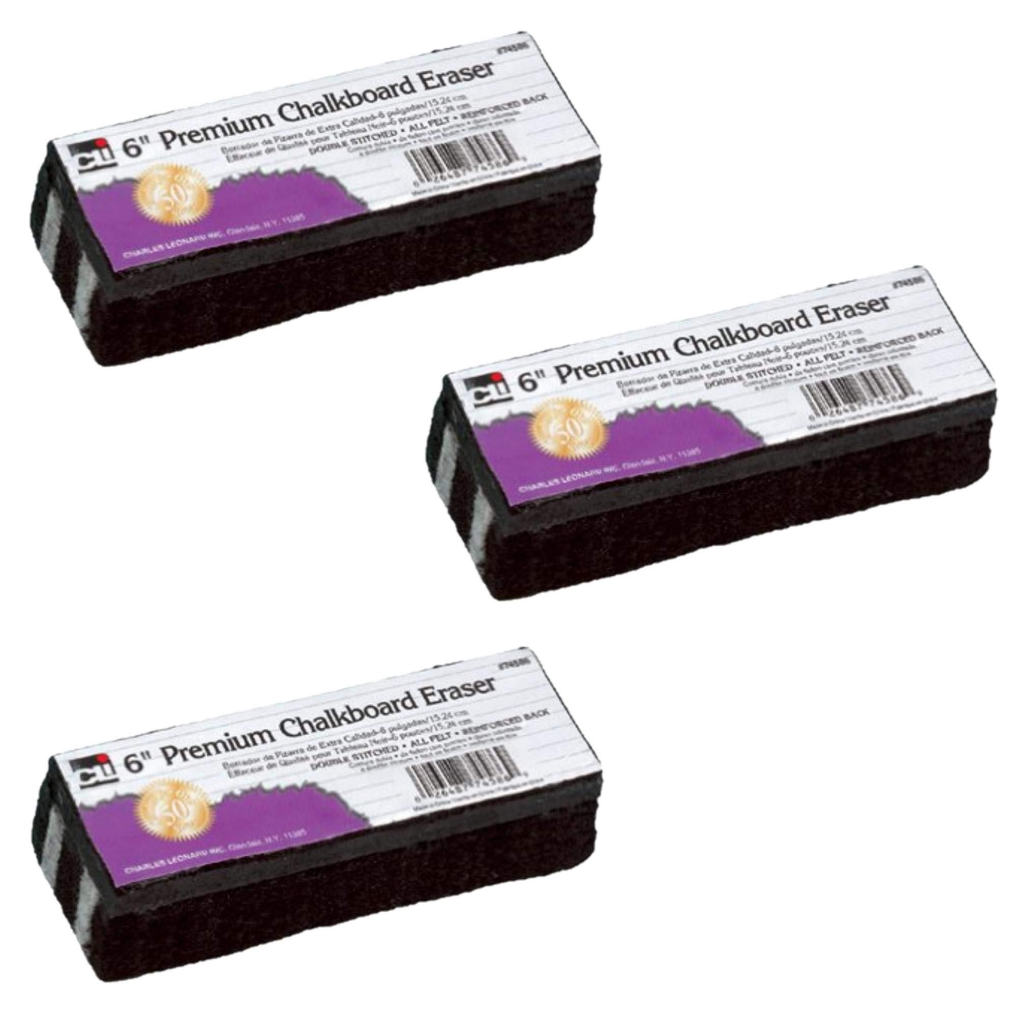 Charles Leonard Chl74586 Premium Chalkboard Eraser (3 Pack) by Charles Leonard (Image #1)