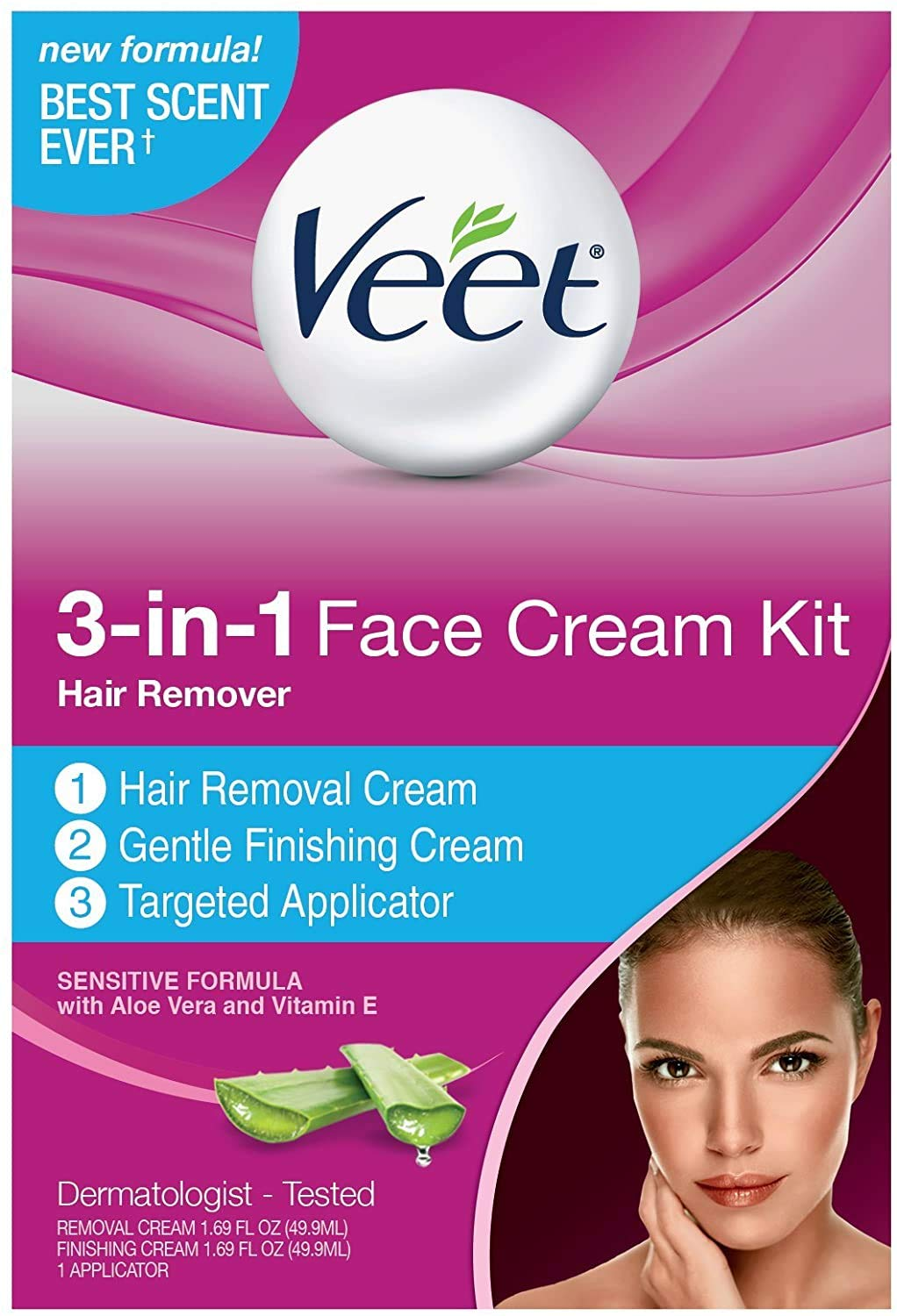 Buy Veet Facial Hair Remover Cream Kit 3 38 Ounce Online At Low