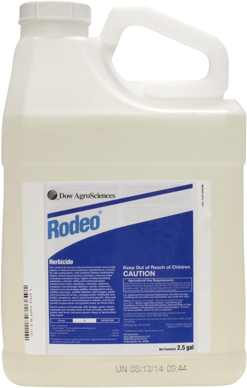 Amazon.com: Rodeo Aquatic Herbicida 2,5 Galón glifosato ...