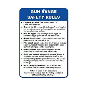 Dark Branches Gun Range Safety Rules Every Gun is Loaded Security Sign Aluminum Metal Sign