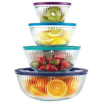 Pyrex 8 Piece 100 Years Glass Mixing Bowl Set (Limited Edition)