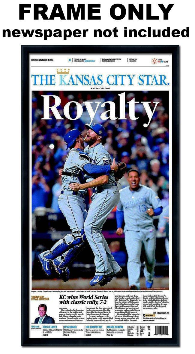 The Kansas City Star - Kansas City Royals Newspaper Frame by The Kansas City Star