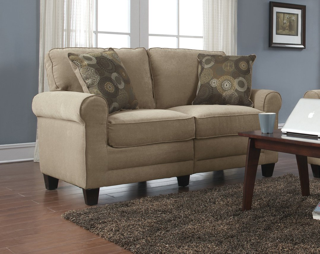 Serta Rta Copenhagen Collection 61 Quot Loveseat In Marzipan