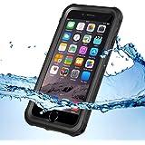 KYOKA iPhone7ケース 防水ケース 指紋認証対応 防水 防塵 耐震 耐衝撃 IP68 アイフォン7ケース 防水カバー (iPhone7, ブラック)
