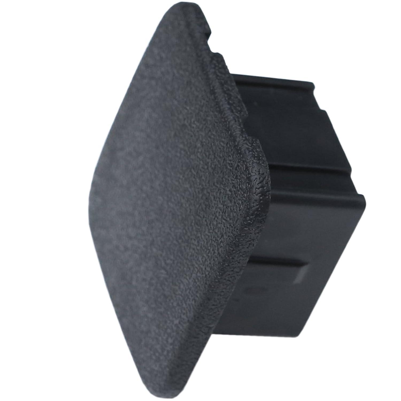 LFPartS 2' Black Trailer Hitch Cover tube Plug Insert LPX20150526