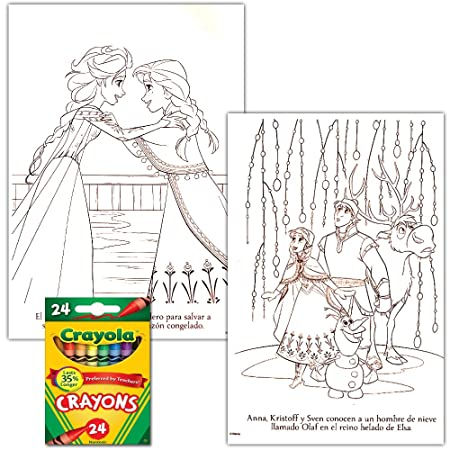 Amazon.com: Disney Frozen Coloring Book Set With Crayons (2 Books ...