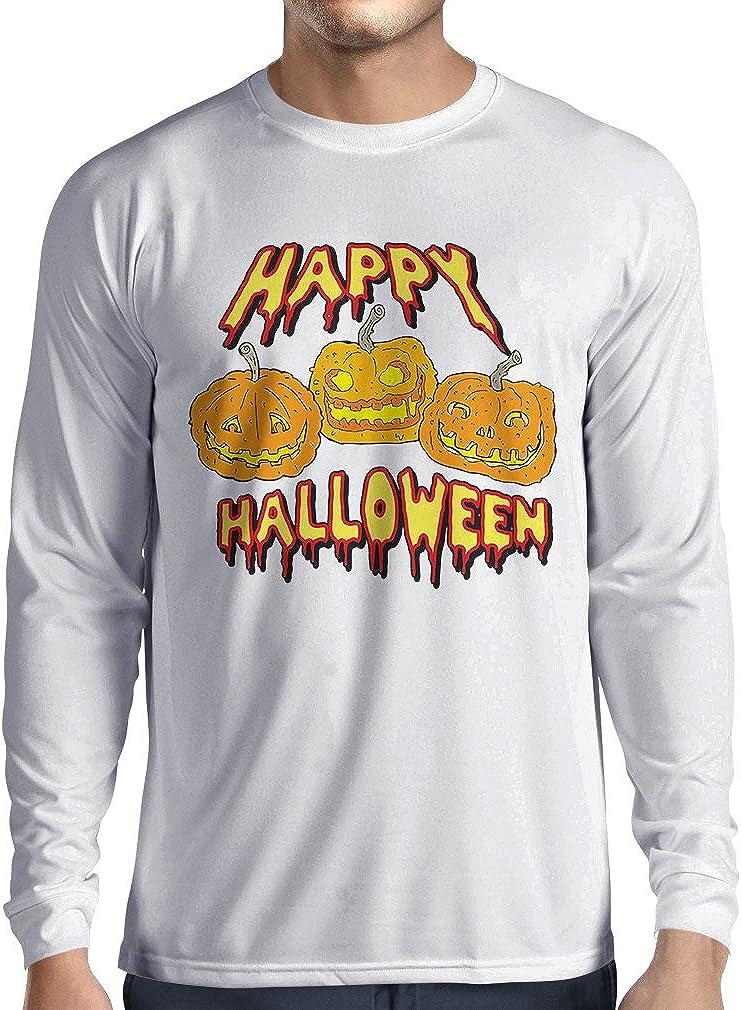 Camiseta de Manga Larga para Hombre Happy Halloween! Party Outfits & Costume - Gift Idea