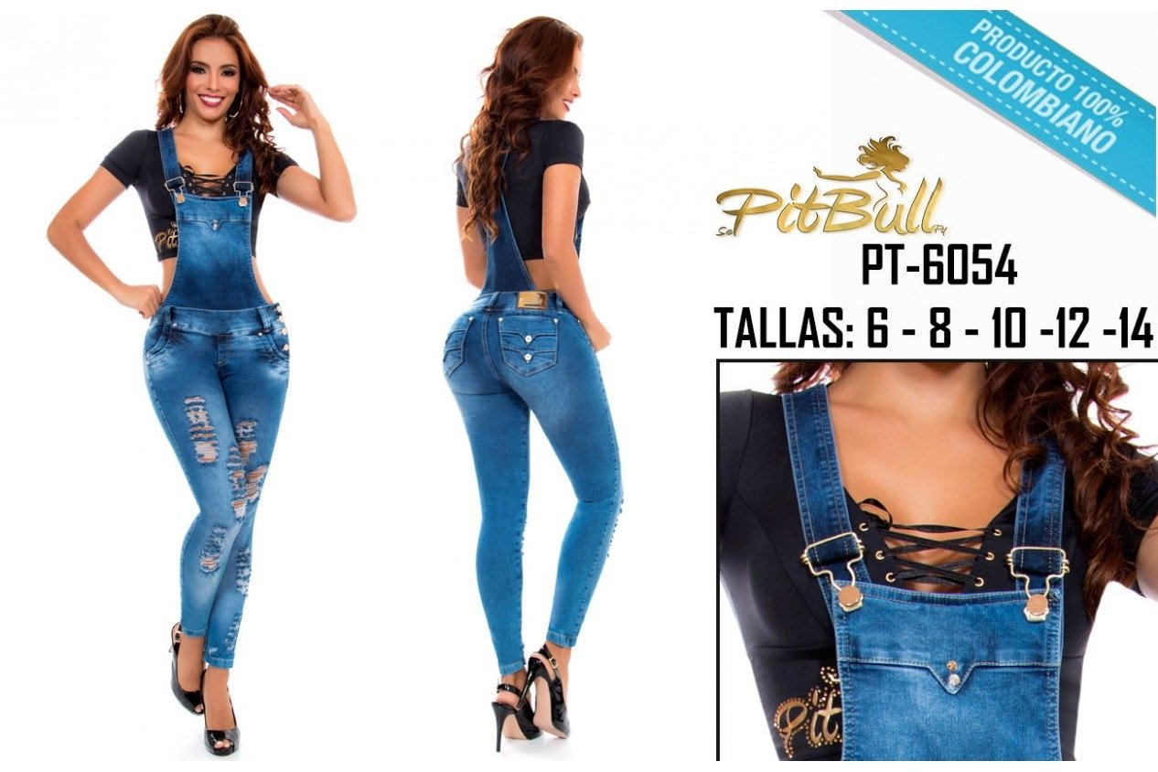 98d6d655ced8 ENTERIZO PITBULL JEANS COLOMBIANO - JUMPSUITS Ref 6054