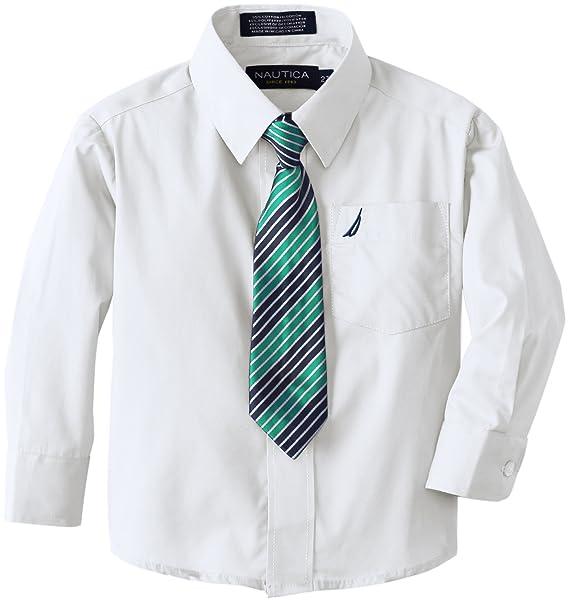 Amazon.com: Nautica - Camisa de manga larga con corbata para ...