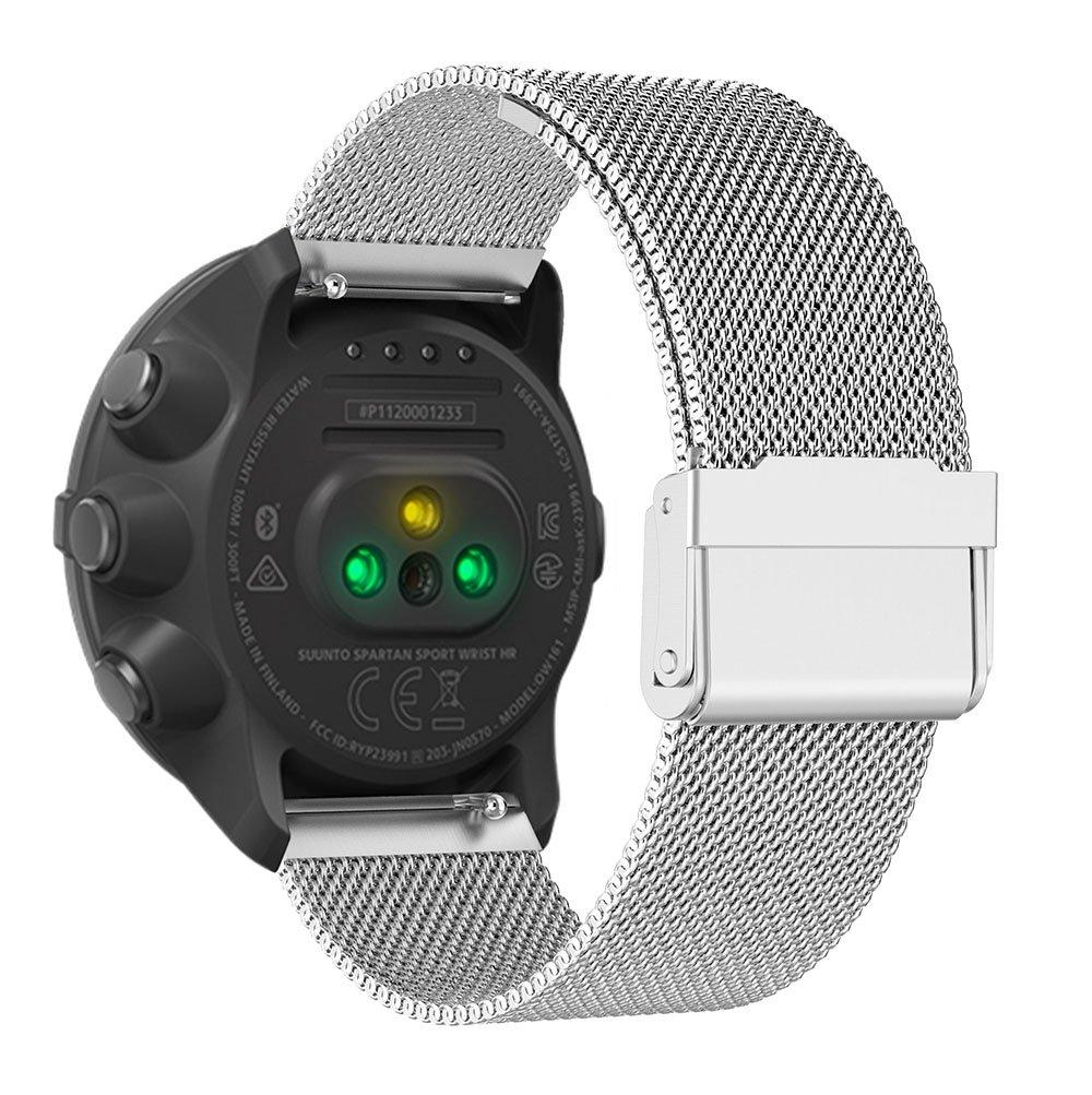Yustar Bracelet milanais luxueux en acier inoxydable pour montre multi-sports Suunto Spartan Sport M Silver: Amazon.fr: Sports et Loisirs