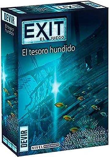 Devir - Exit: El tesoro hundido, Ed. Español (BGEXIT7): Amazon.es ...