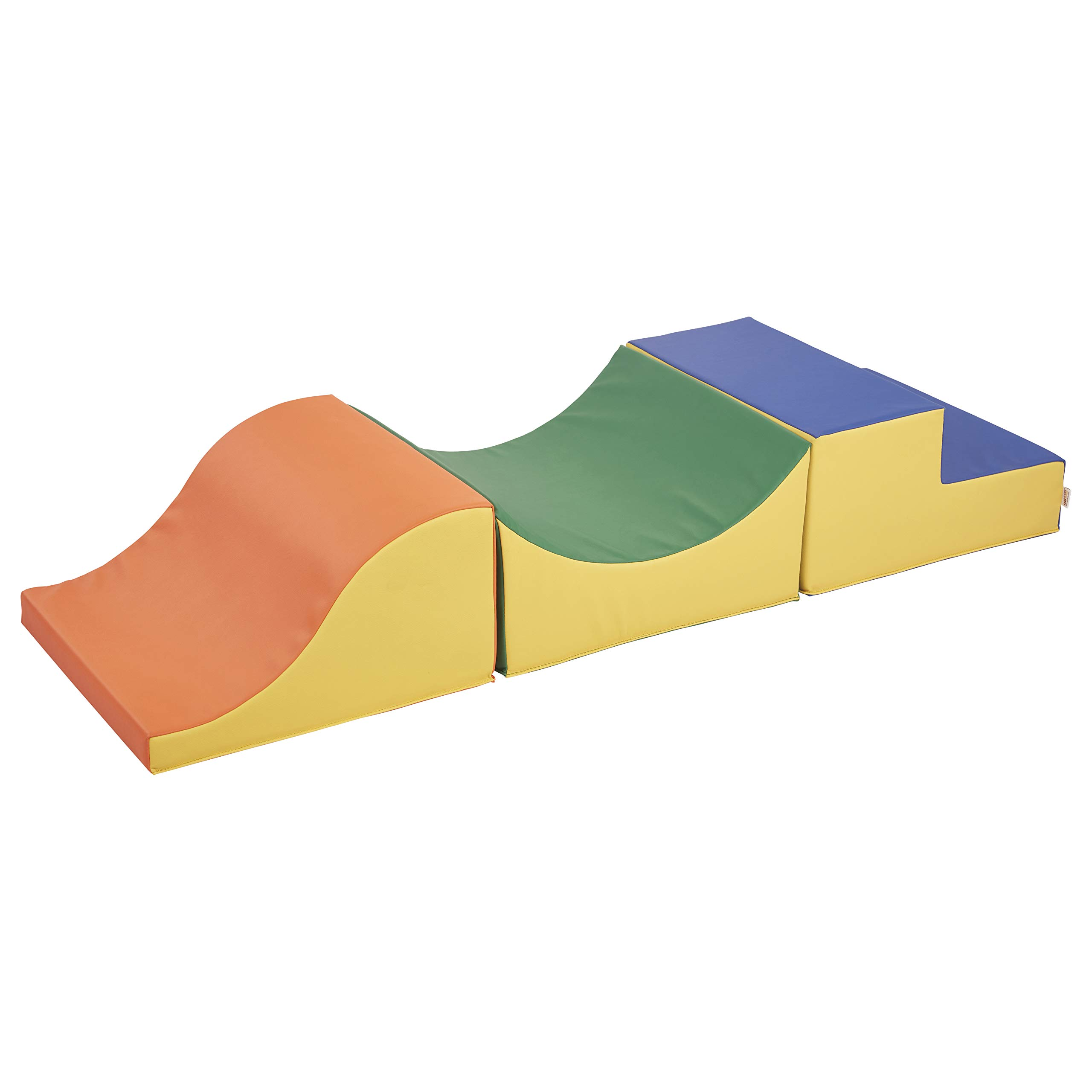 FDP SoftScape Thrill-Scape Climber for Toddlers and Kids, Colorful Beginner Step and Slide Foam Structure for Active Playtime (3-Piece Set) - Assorted by Factory Direct Partners