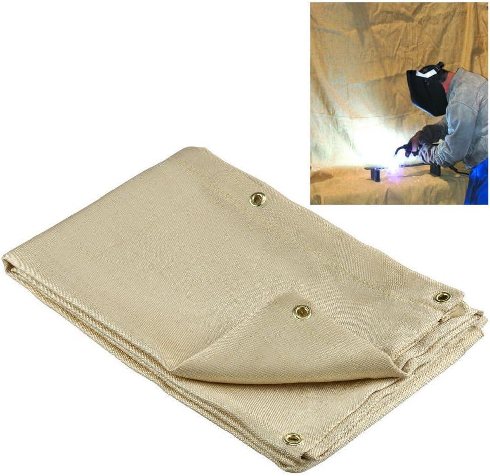 Welding Blanket 6 x 8 Fire Flame Retardent Fiberglass Shield Brass Grommets