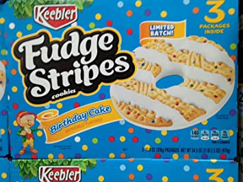 Image Unavailable Not Available For Color Keebler Fudge Stripes Birthday Cake Flavor Cookies