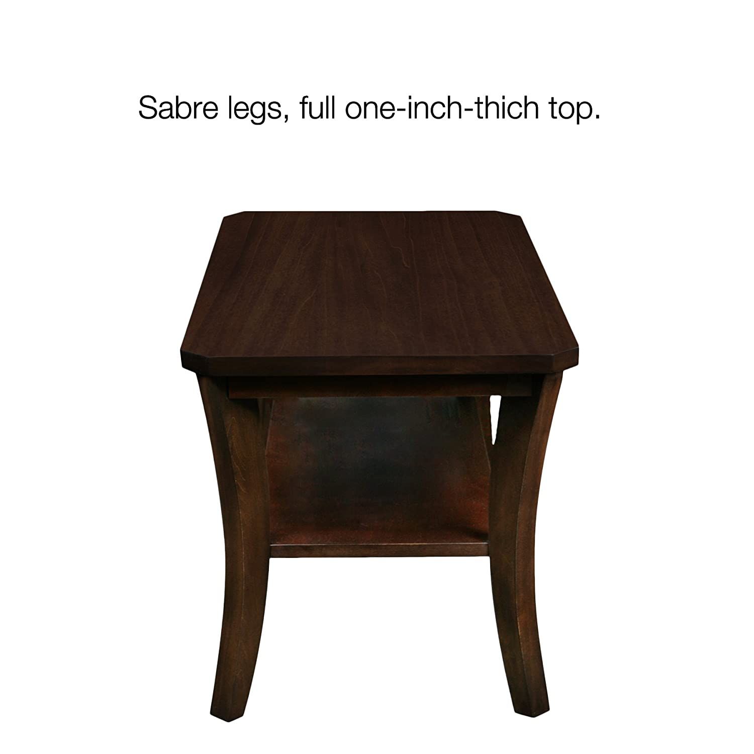 Amazon.com: Leick Furniture Boa Collection Solid Wood Condo/Apartment Coffee  Table: Kitchen U0026 Dining