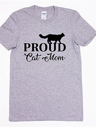 0f50e6c5 Amazon.com: Proud Cat Mom/Gildan Dry Blend/Unisex T Shirt/Cats / Cat ...