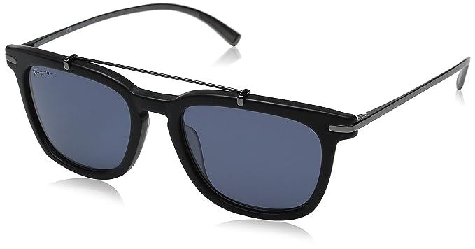 69dfecfb7c Amazon.com  Salvatore Ferragamo Men s SF820SM Matte Black Blue  Clothing