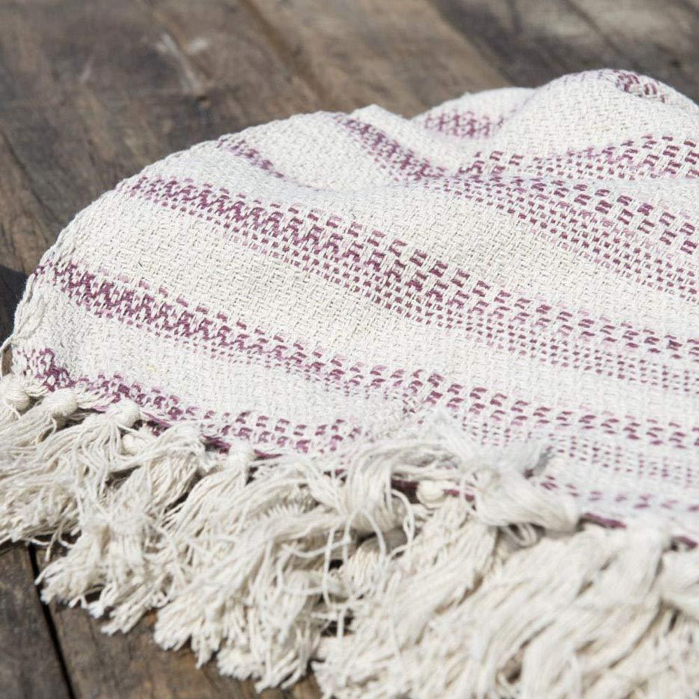 Creme mit rosa Streifen Decke Plaid IB Laursen 130 x 160 cm Baumwolle