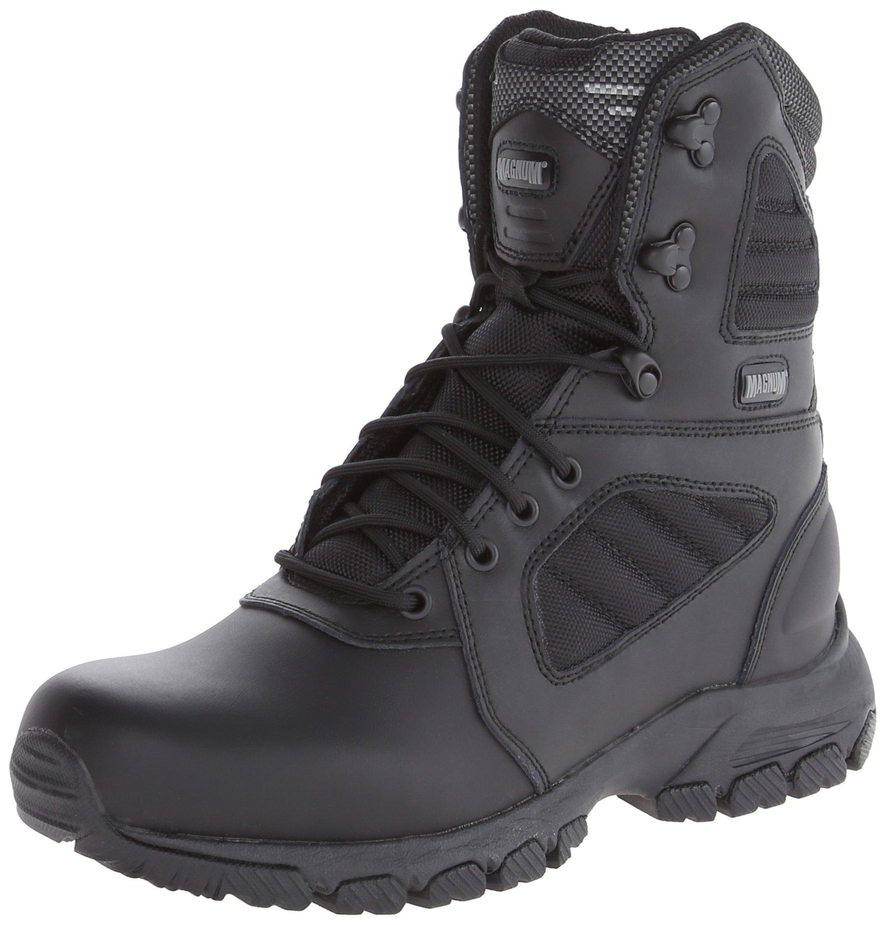 Magnum Men's Response III 8.0 Side-Zip Slip Resistant Work Boot,Black,7.5 M US