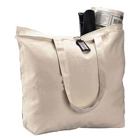 Amazon.com: Juego de 6 bolsas grandes de lona con cierre de ...