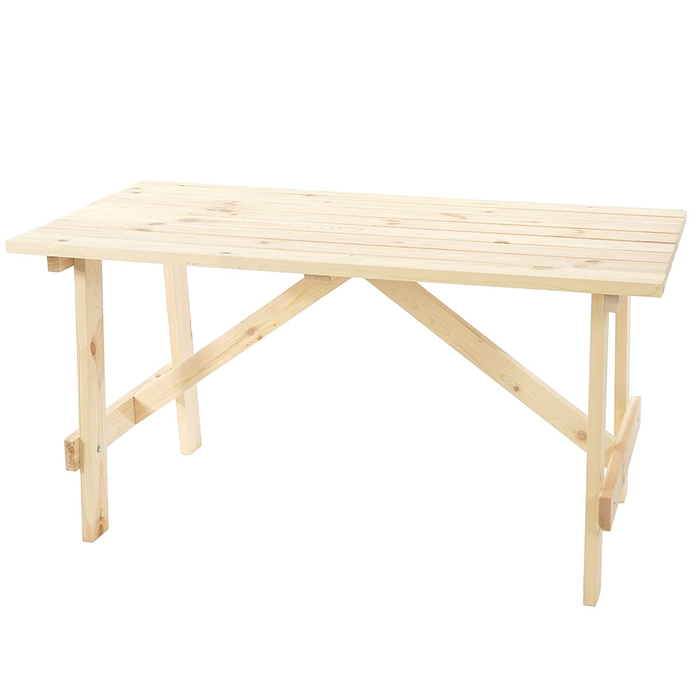 Amazon De Mendler Holztisch Gartentisch Oslo 148x70 Cm