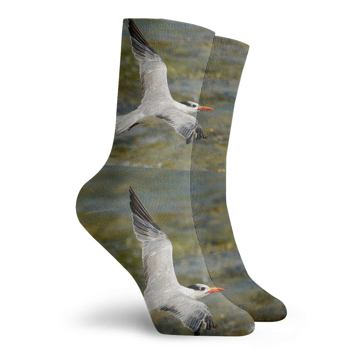 Baseball TAOMAP89 Caspian Tern Pattern Compression Ankle Socks for Women and Men Crazy Funny Socks Best for Flight Athletic