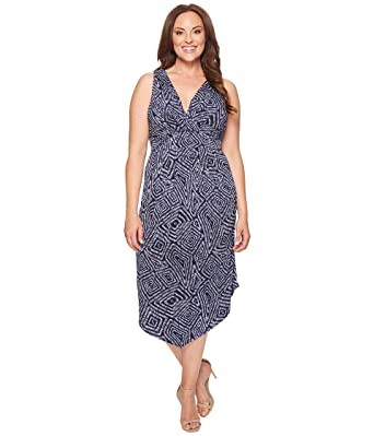 Karen Kane Plus Womens Plus Size Asymmetric Maxi Dress At Amazon