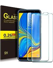 KuGi Samsung Galaxy A7 2018 Protection Ecran,Samsung Galaxy A7 2018 Ultra Résistant Film Protection écran Glass [Dureté 9H] Screen Protector pour Samsung Galaxy A7 2018(Pack de 2)