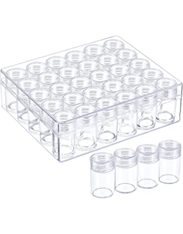 Plastic Beads Boxes Storage Container Set With 30 Pieces Jars Diamond Painting