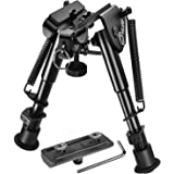 CVLIFE Bipod with M-lck Mount Adapter 6-9 Inches Rifle Bipod Include M-lck Rail Mount Adapter
