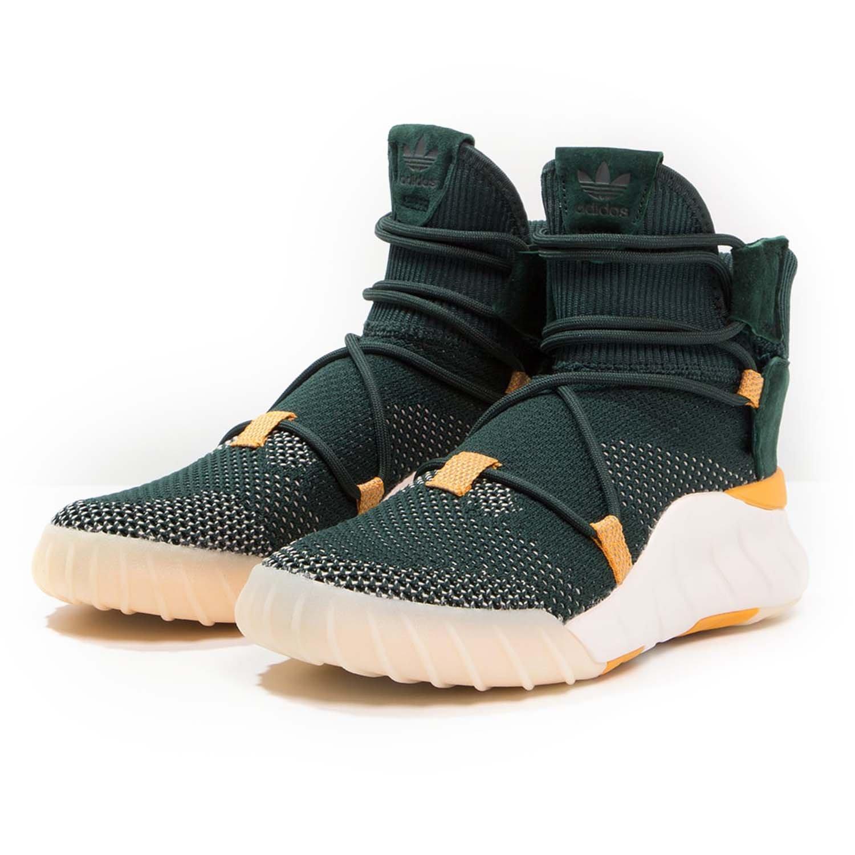 adidas Originals Men's Tubular X 2.0 PK Sneaker B01N5HNAA5 8.5 D(M) US|Green Night/Tactile Yellow/Chalk White