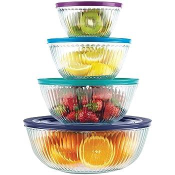 Amazon Com Norpro 10 Piece Nesting Glass Mixing Storage