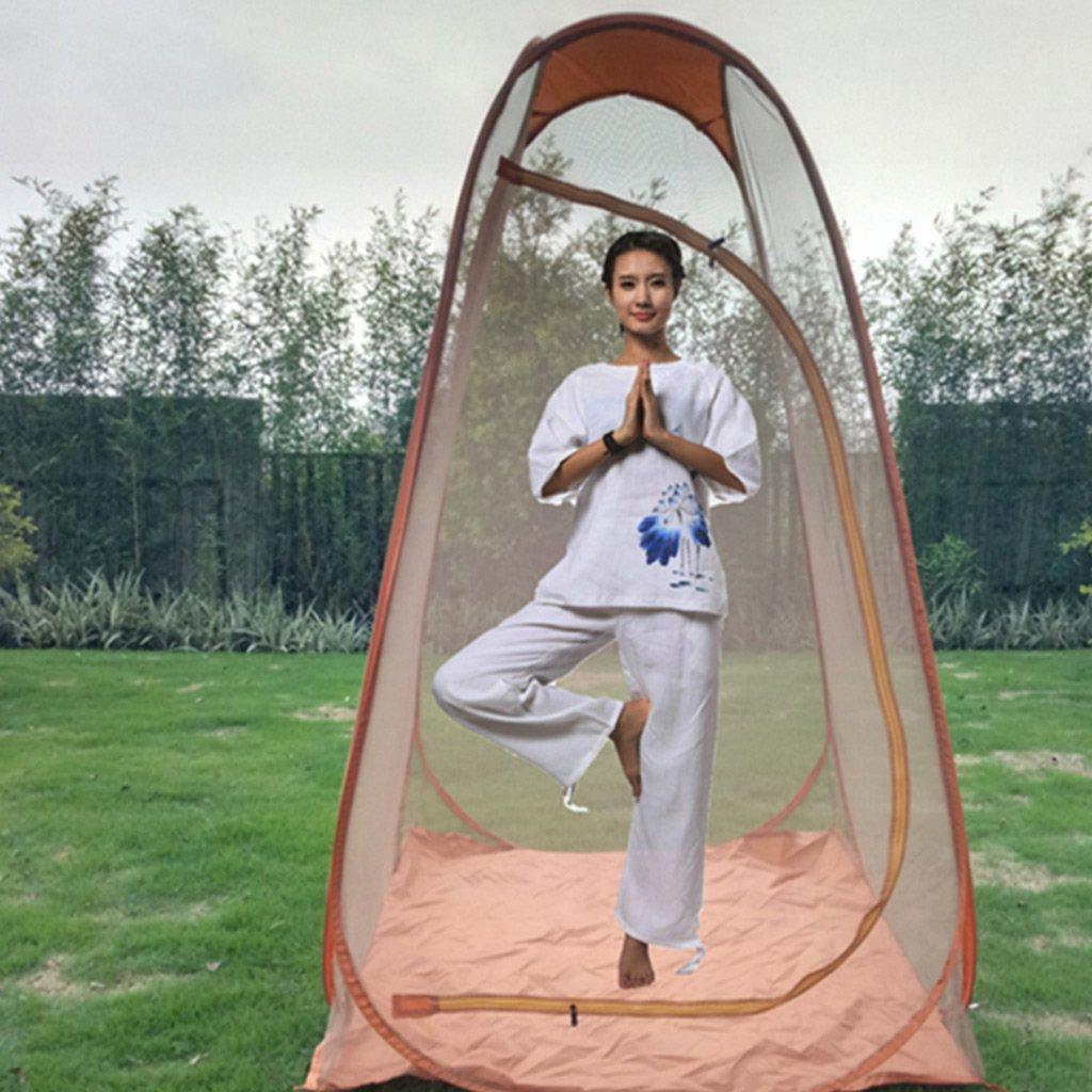 XY&CF Wasserdichtes und Winddichtes Zelt aus ultraleichtem Zelt und Boden (Farbe : Orange)