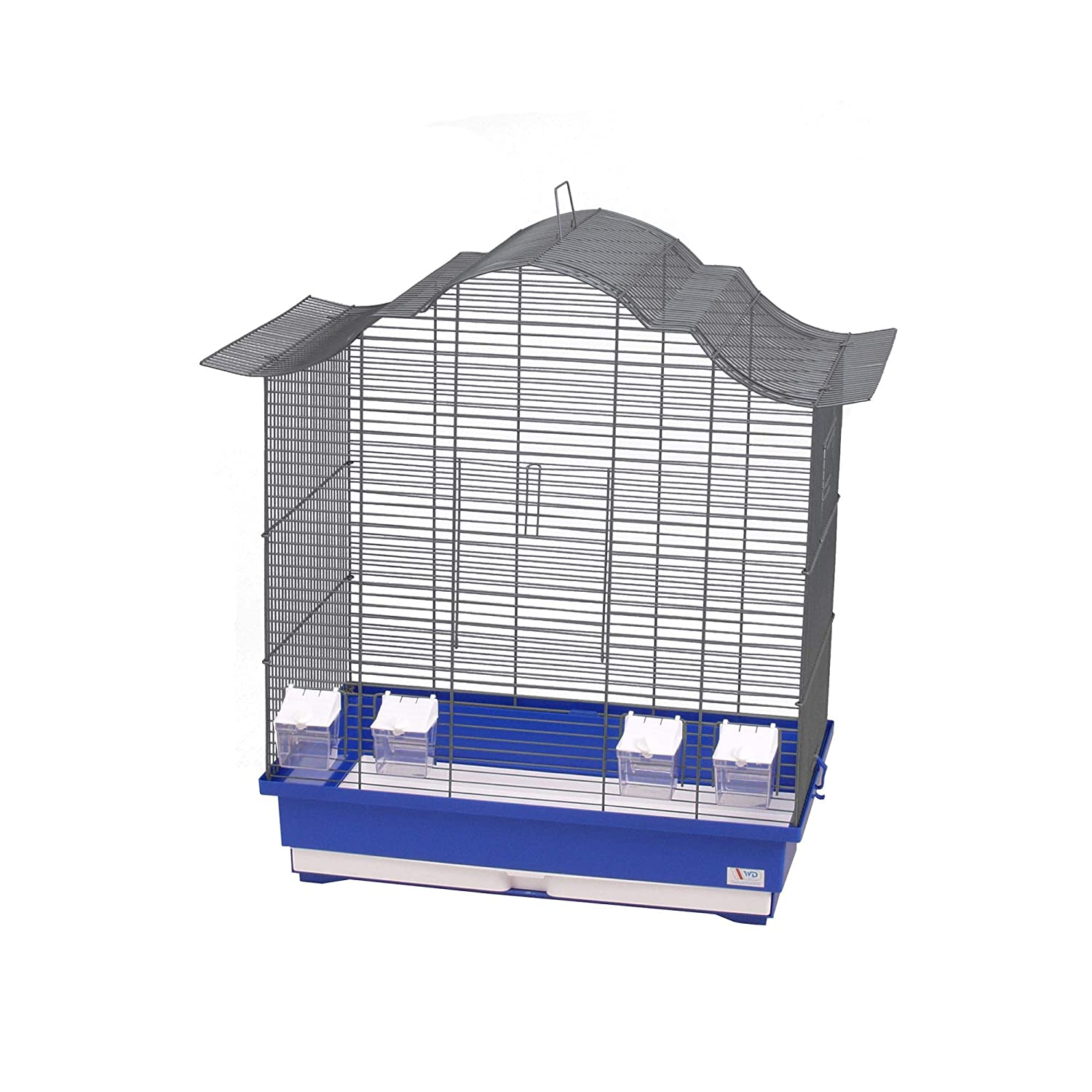 Decorwelt Asia 60 Bird Cages XXL bluee Outer Dimensions 70 x 42 x 72.5 cm Holiday Travel Cage Accessory Budgie Canary Cage Food Bowl Plastic Bird Model