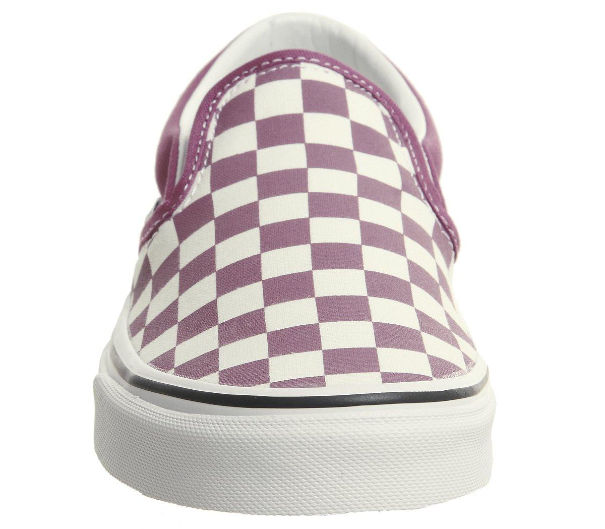Vans Unisex Classic (Checkerboard) Slip-On Skate Shoe B078Y7NXRL 8 White D(M) US Dry Rose / White 8 424660