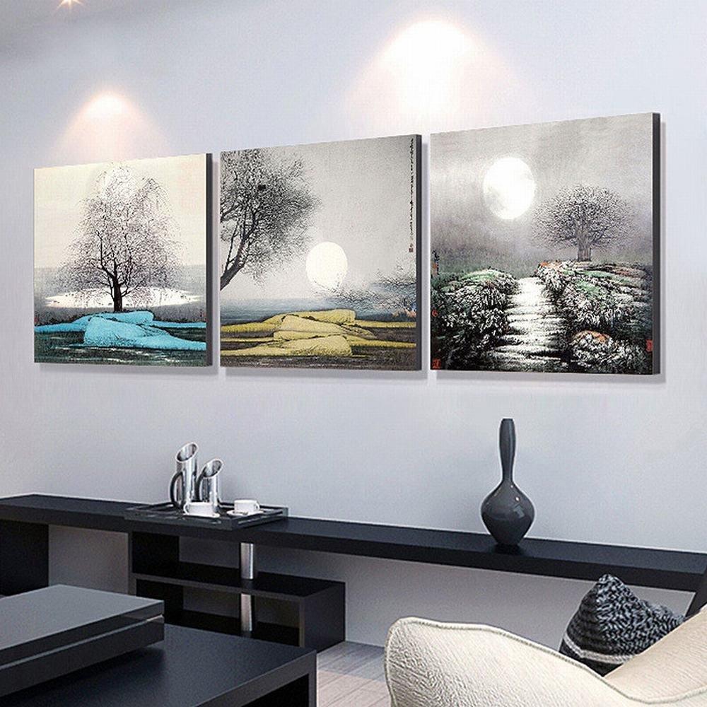 Amazon Com Dididd Living Room Modern Simple Pastoral Landscape Wall