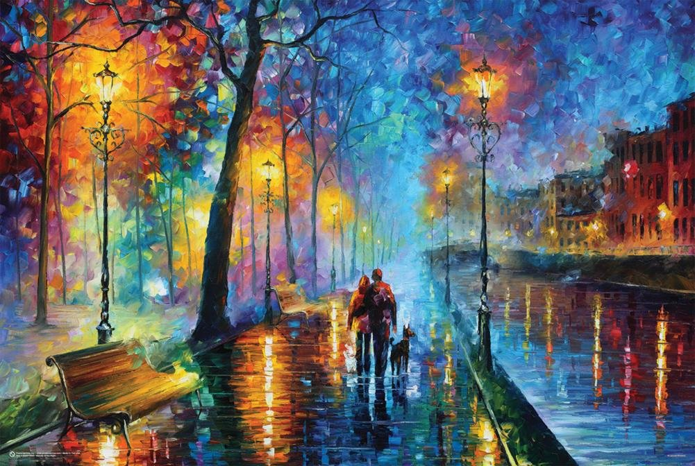 Leonid Afremov- Melody of The Night Poster by Leonid Afremov 36 x 24in